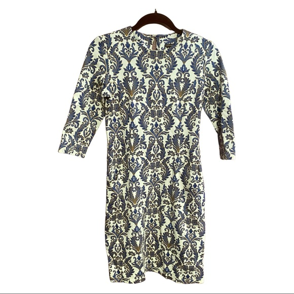 J. McLaughlin Catalyst Dress brocade print sheath